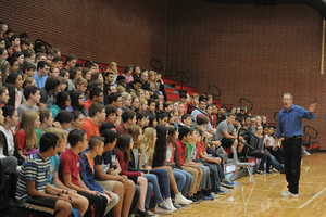 Author Eric Walters visits RJHS students