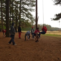 Students Challenge Themselves at Paris Ropes Challenge Course