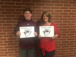 September Teacher and Student of the Month