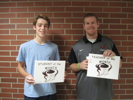 RJHS October Teacher and Student of the Month