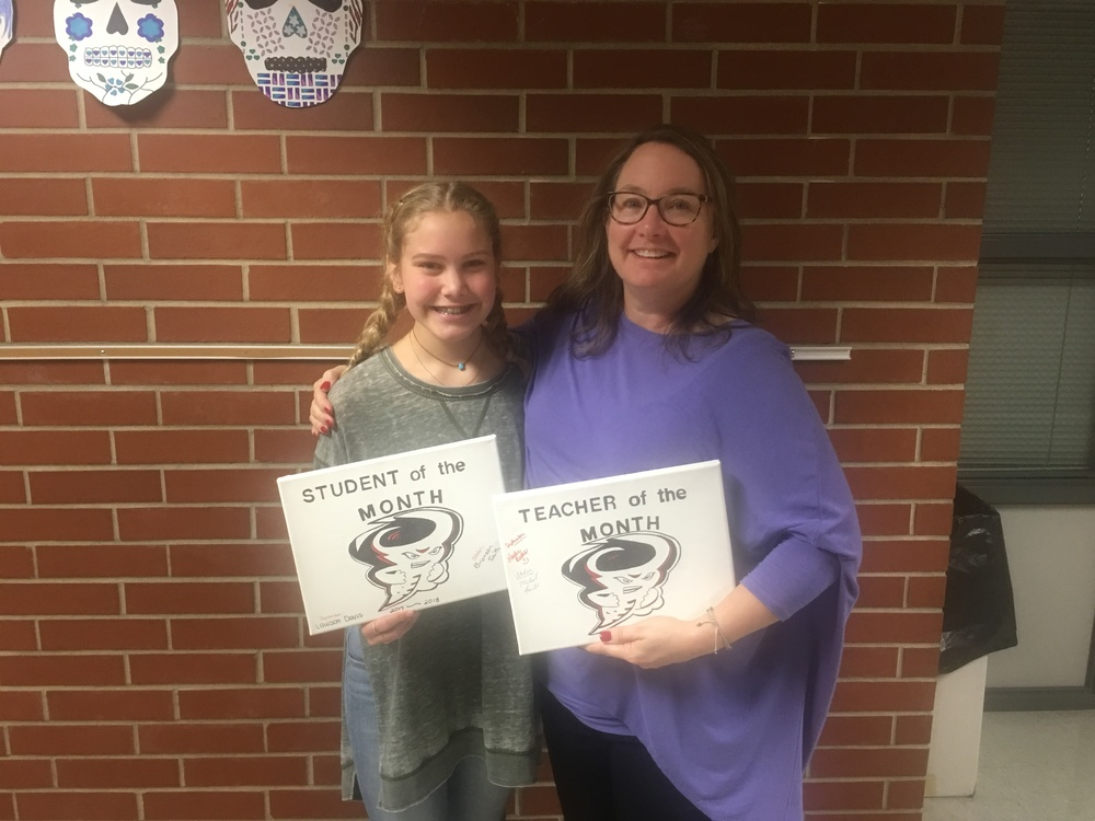 RJHS November Teacher and Student of the Month