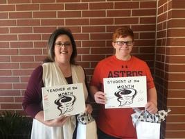 RJHS December Teacher and Student of the Month
