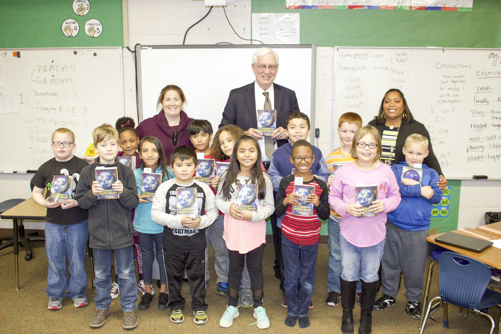 Downtown Rotary Club Donates Dictionaries
