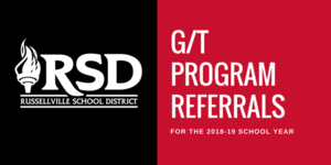 Russellville School District accepting G/T Program Referrals