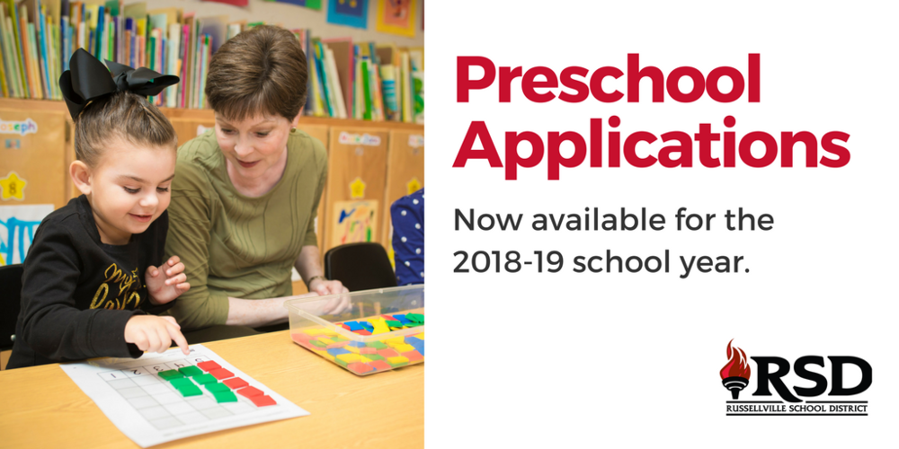 Preschool Applications 2018-2019 School Year