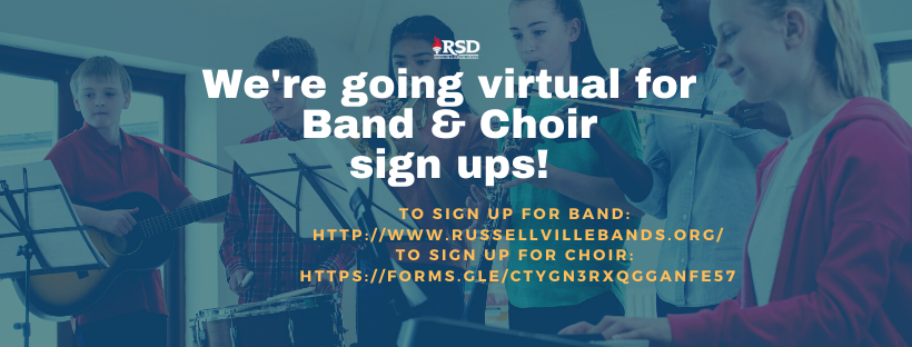 Band & Choir sign ups are going virtual for the 2020-2021 school year