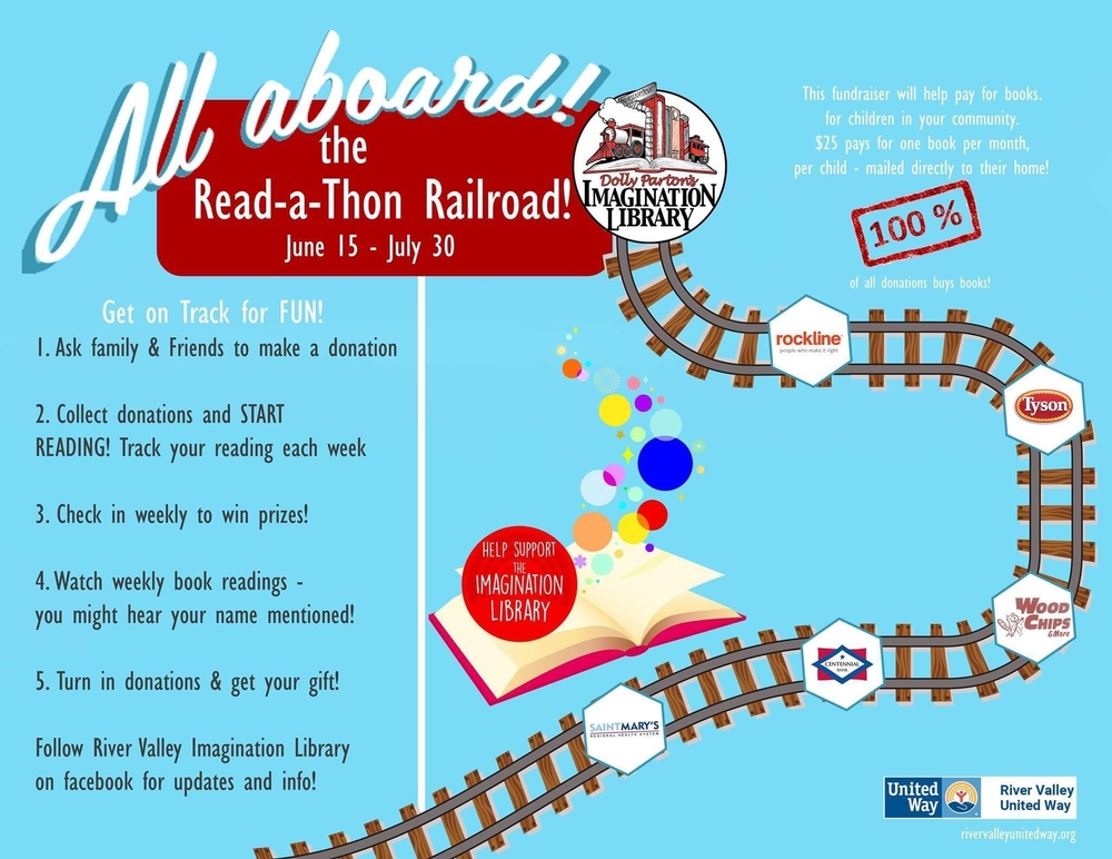 River Valley United Way launched their Read-A-Thon Railroad