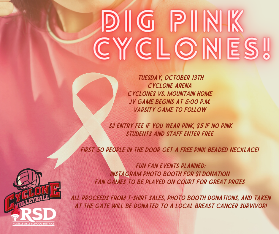 DIG PINK: Tuesday, October 13