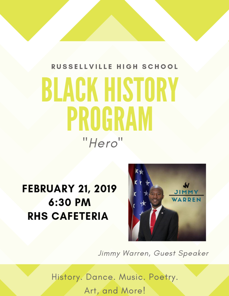 The Black History Heritage Club announces The Black History Program