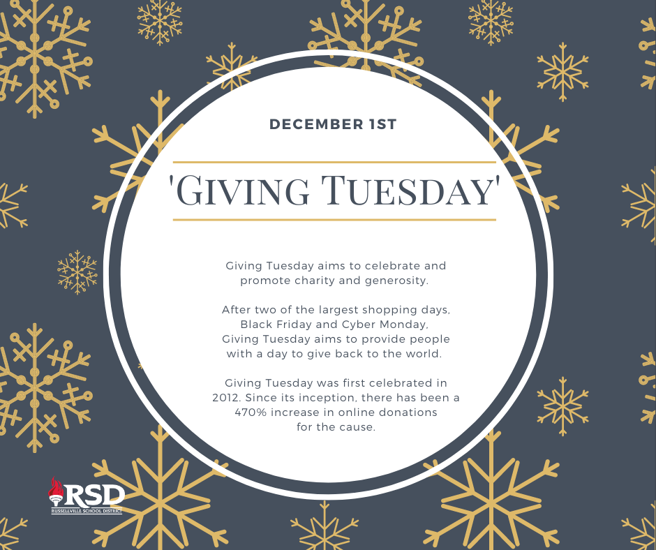 December 1st is Giving Tuesday- make a difference!