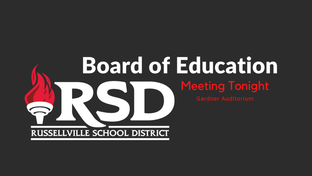RSD Board of Education meeting tonight @ 7 p.m.