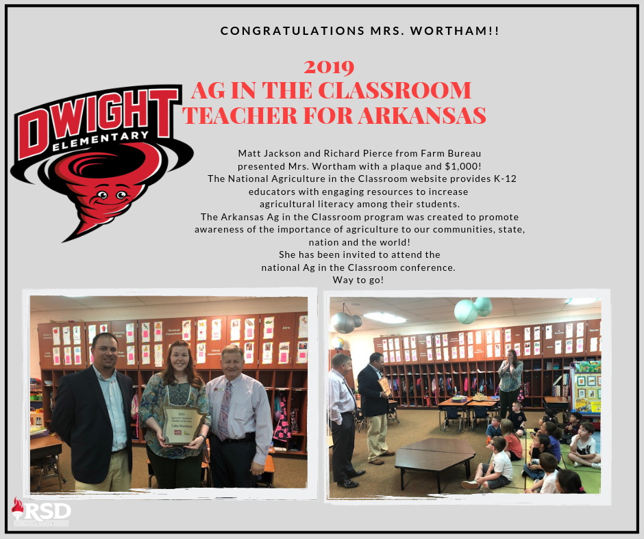 Wortham awarded AG in the Classroom Teacher for AR