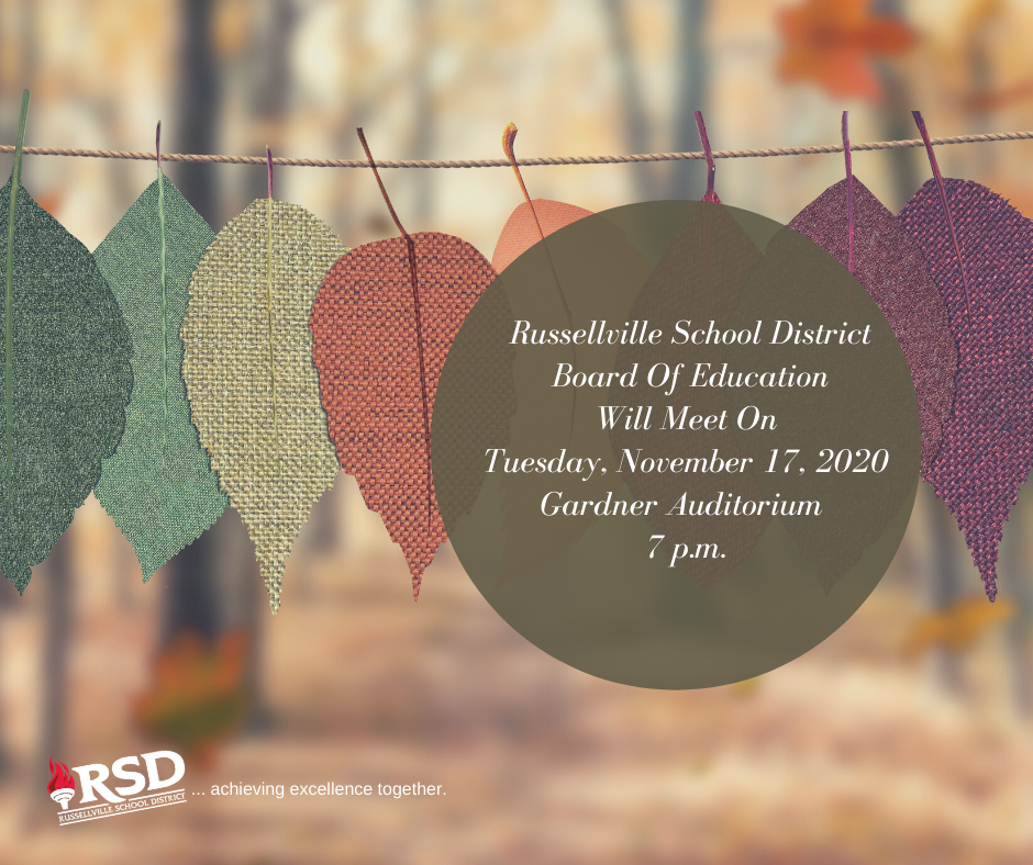 RSD Board of Education meeting Tuesday, 17 @ 7 p.m.