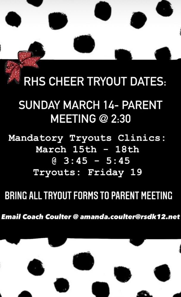 Important dates for RHS Cheer
