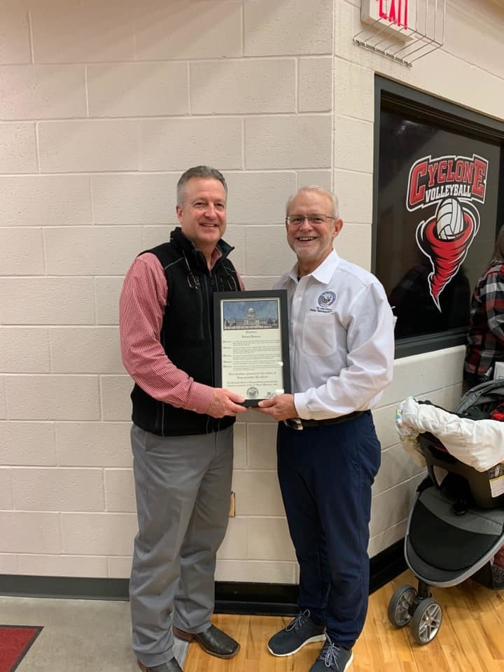 RSD Athletic Director honored with Citation from State Rep. Joe Cloud