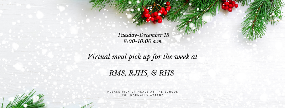 Please share: Virtual meal pick up set for tomorrow