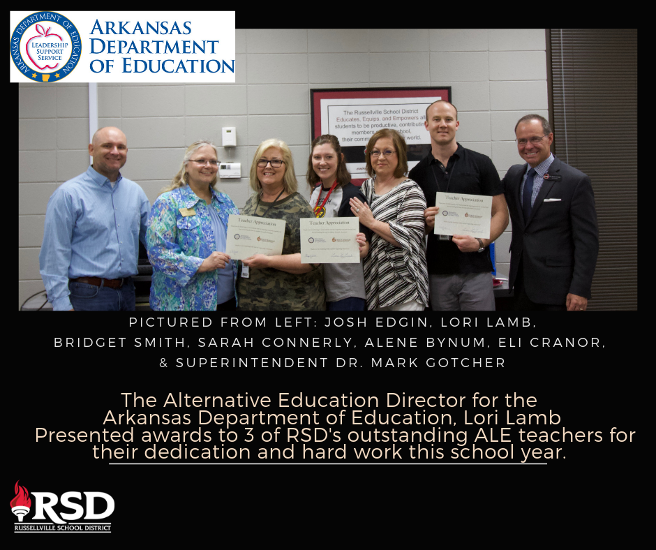 Arkansas Department of Education awards RSD for outstanding ALE program
