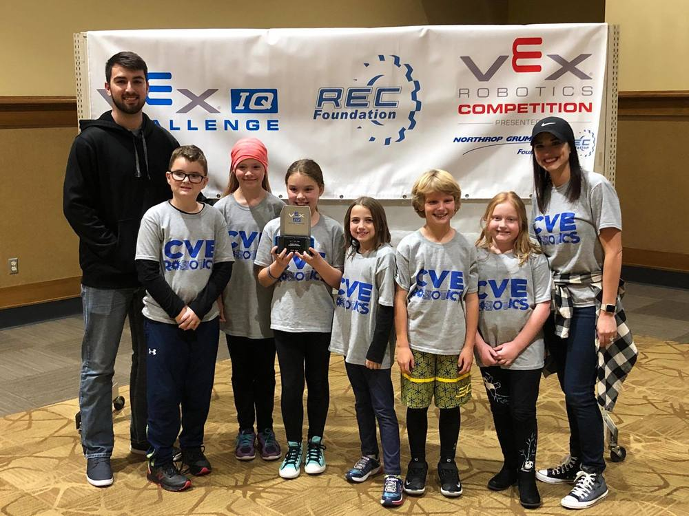 3rd grade Center Valley Robotics are Robot Skills Champions!