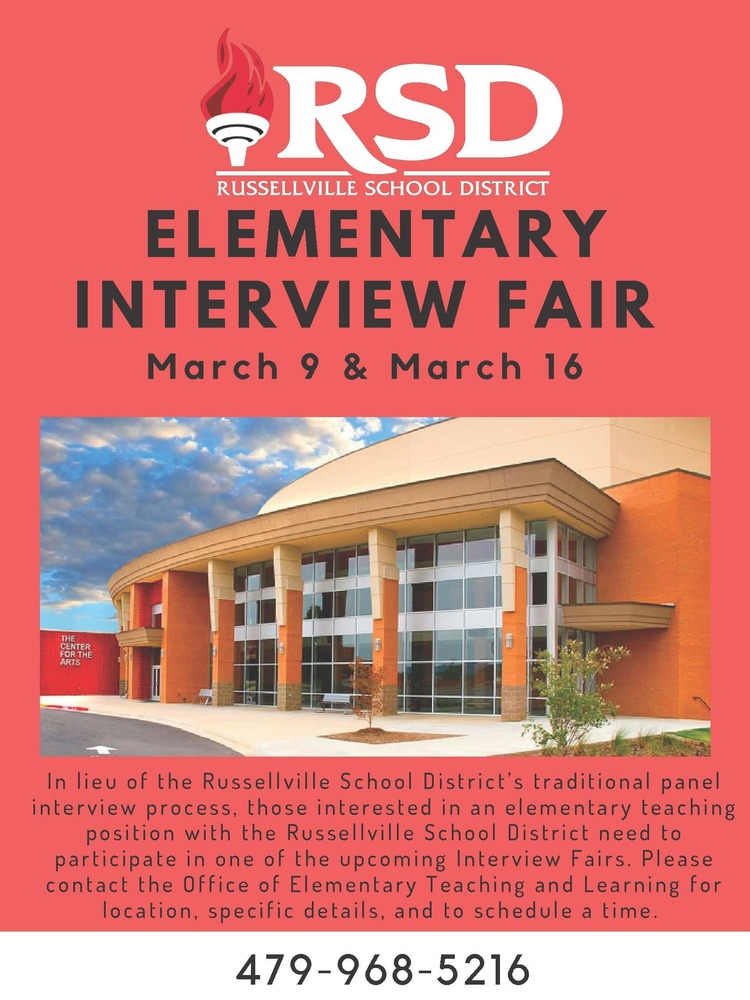 RSD hosting Elementary Interview Fair in March