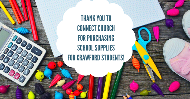 Connect Church Donates School Supplies to Crawford