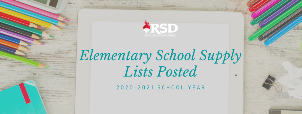 elementary school supply lists posted