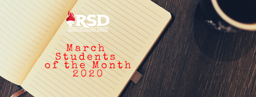 RSD's March Students of the Month