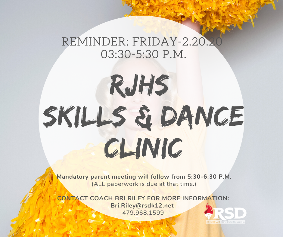 Reminder:RJHS Skills and Dance clinic this Friday!