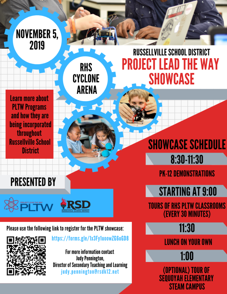 PLTW Showcase for Pre-k through 12th grade nowscheduled for Nov 5th