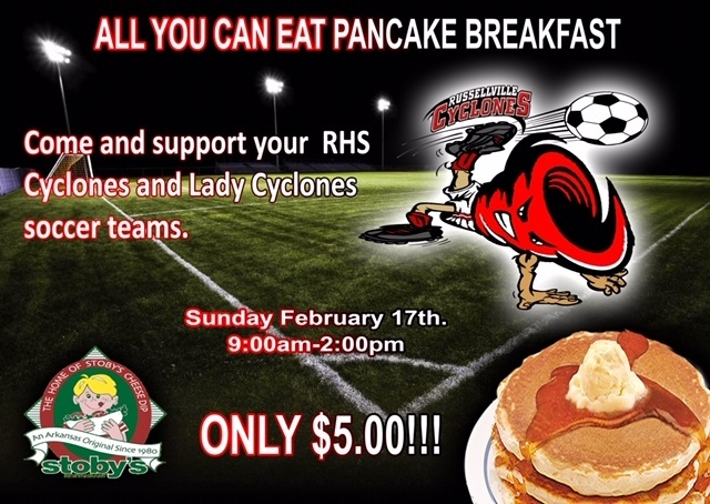 Pancake Fundraiser for Cyclone and Lady Cyclone Soccer