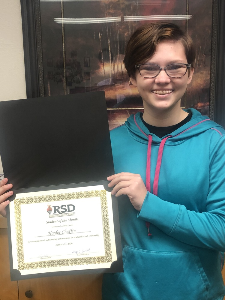 SLC Student of the Month - January