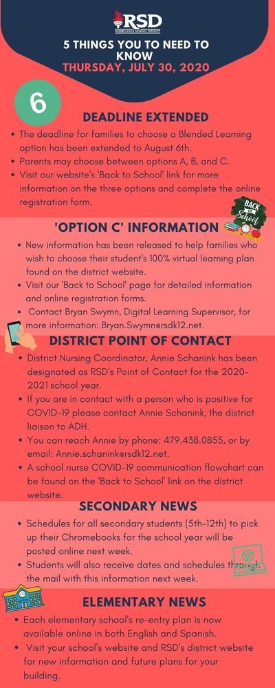 5 Things to know from the Office of the Superintendent