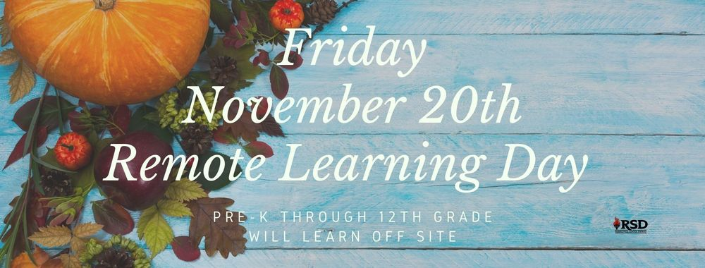 RSD Remote Learning Day set for 11.20.20