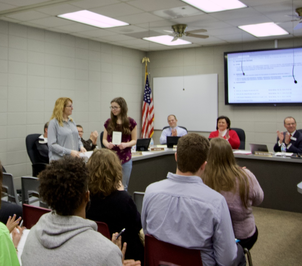 Davis honored at School Board Meeting Tuesday