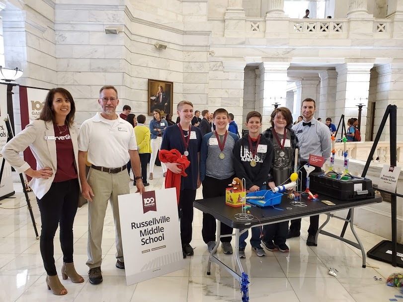 RMS Students Compete in the Garver Chain Reaction Challenge at the State Capitol