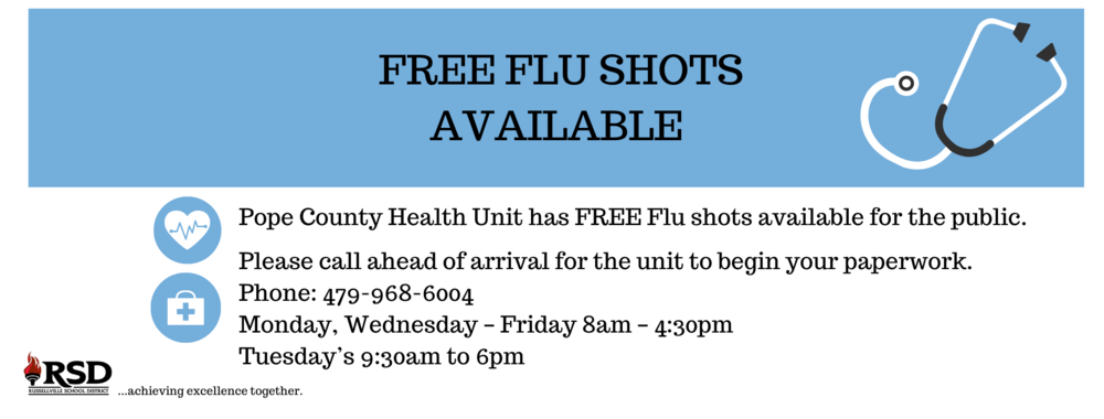 Free Flu Shots available