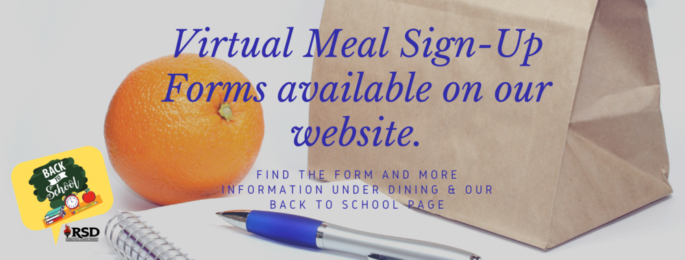 Virtual Meal Sign-Up Form available