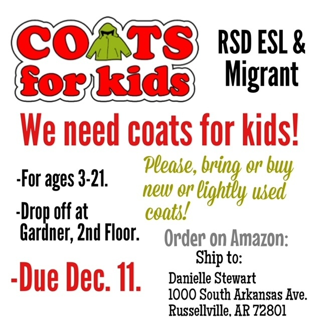 ESL: Coats for Kids Drive