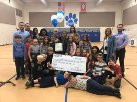 Bass was awarded $500 by Arvest Bank as Center Valley Elementary's favorite teacher
