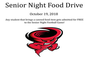 Senior Night Food Drive