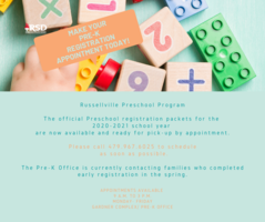 Pre-K Registration Appointments Available