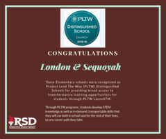 London, Sequoyah, and RJHS recognized by PLTW