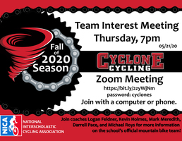 Cyclone Cycling Team Meeting 5.21.20