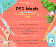 BIG Changes in RSD Meals this Week!