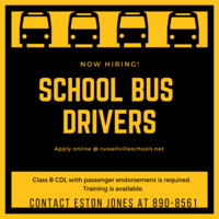 RSD now hiring school bus drivers