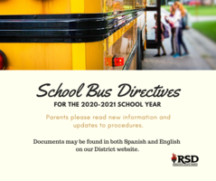 School Bus directives for RSD students for the 2020-2021 school year -