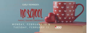 Early reminder: no school for parent/teacher conferences