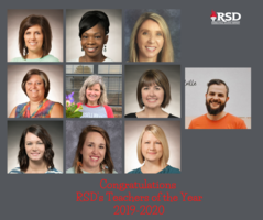 RSD Teachers of the Year for 2019-2020