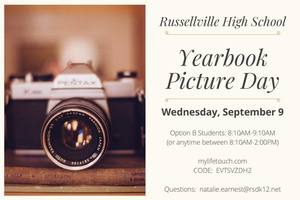 Lifetouch will be coming to RHS on Wednesday, September 9, 2020, for fall photos!