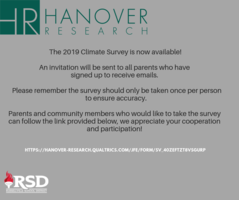 2019 Climate Survey emails sent for completion throughout the district