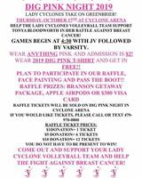 DIG PINK NIGHT THURSDAY!